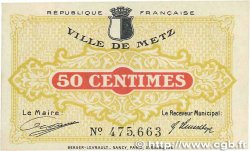 50 Centimes FRANCE régionalisme et divers Metz 1918 JP.131.01 SUP