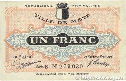 1 Franc FRANCE régionalisme et divers Metz 1918 JP.131.04 TTB