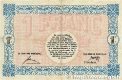 1 Franc FRANCE régionalisme et divers Mulhouse 1918 JP.132.02 TTB