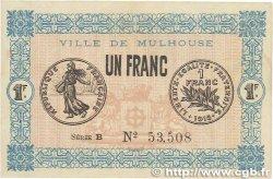 1 Franc FRANCE régionalisme et divers MULHOUSE 1918 JP.132.02 TTB+