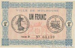 1 Franc FRANCE régionalisme et divers Mulhouse 1918 JP.132.02 SUP+