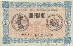 1 Franc FRANCE régionalisme et divers Mulhouse 1918 JP.132.02 SPL