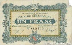 1 Franc FRANCE régionalisme et divers STRASBOURG 1918 JP.133.04 B+