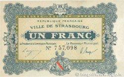 1 Franc FRANCE régionalisme et divers STRASBOURG 1918 JP.133.04 TTB+