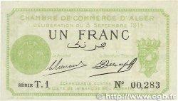 1 Franc FRANCE régionalisme et divers ALGER 1914 JP.137.03 NEUF