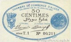 50 Centimes FRANCE régionalisme et divers ALGER 1915 JP.137.08 pr.NEUF