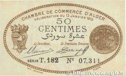 50 Centimes FRANCE régionalisme et divers ALGER 1915 JP.137.09 TTB+