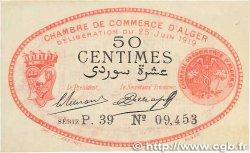 50 Centimes FRANCE régionalisme et divers ALGER 1919 JP.137.11 SPL