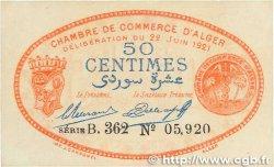 50 Centimes FRANCE régionalisme et divers Alger 1921 JP.137.21 pr.SPL