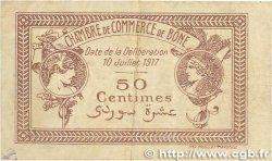 50 Centimes FRANCE régionalisme et divers BÔNE 1917 JP.138.04 TB