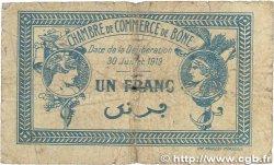 1 Franc FRANCE régionalisme et divers BÔNE 1919 JP.138.10 B