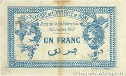 1 Franc FRANCE régionalisme et divers BÔNE 1919 JP.138.10 TB