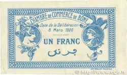 1 Franc FRANCE régionalisme et divers BÔNE 1920 JP.138.13 TTB+