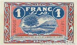 1 Franc FRANCE régionalisme et divers BOUGIE, SÉTIF 1918 JP.139.06 NEUF