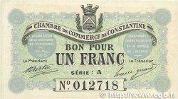 1 Franc FRANCE régionalisme et divers CONSTANTINE 1915 JP.140.02 pr.NEUF
