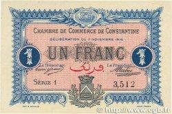 1 Franc FRANCE régionalisme et divers CONSTANTINE 1916 JP.140.10 SPL