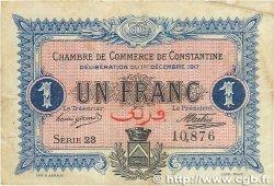 1 Franc FRANCE régionalisme et divers Constantine 1917 JP.140.15 B+