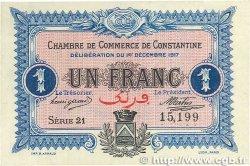 1 Franc FRANCE régionalisme et divers Constantine 1917 JP.140.15 pr.SPL