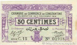 50 Centimes FRANCE régionalisme et divers Constantine 1919 JP.140.21 SUP