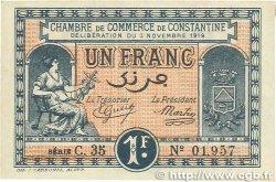1 Franc FRANCE régionalisme et divers CONSTANTINE 1919 JP.140.22 SPL