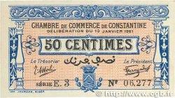 50 Centimes FRANCE régionalisme et divers CONSTANTINE 1921 JP.140.25 SPL