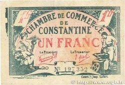 1 Franc FRANCE régionalisme et divers CONSTANTINE 1921 JP.140.28 TB