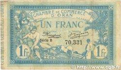 1 Franc FRANCE régionalisme et divers Oran 1915 JP.141.02 TB