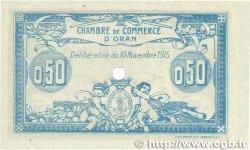 50 Centimes FRANCE régionalisme et divers Oran 1915 JP.141.07 SPL