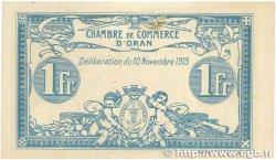1 Franc FRANCE régionalisme et divers ORAN 1915 JP.141.08 pr.SPL
