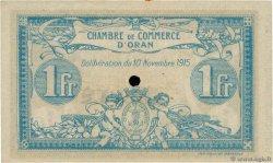1 Franc FRANCE régionalisme et divers ORAN 1915 JP.141.10 TTB+