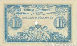 1 Franc FRANCE régionalisme et divers Oran 1915 JP.141.10 SUP+