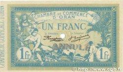1 Franc FRANCE régionalisme et divers Oran 1915 JP.141.10 SPL