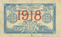 50 Centimes FRANCE régionalisme et divers ORAN 1915 JP.141.19 TB