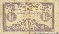 1 Franc FRANCE régionalisme et divers Oran 1920 JP.141.23 B+