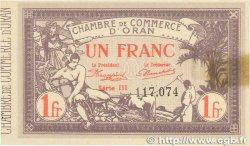 1 Franc FRANCE régionalisme et divers Oran 1920 JP.141.23 SPL