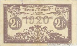 2 Francs FRANCE régionalisme et divers Oran 1920 JP.141.24 pr.TTB