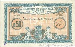 50 Centimes FRANCE régionalisme et divers ORAN 1921 JP.141.25 TTB