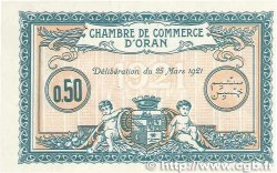 50 Centimes FRANCE régionalisme et divers ORAN 1921 JP.141.25 NEUF