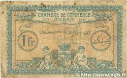 1 Franc FRANCE régionalisme et divers Oran 1921 JP.141.27 B+