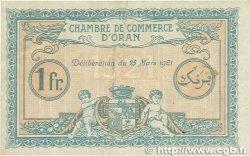 1 Franc FRANCE régionalisme et divers Oran 1921 JP.141.27 TTB