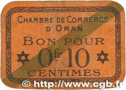 10 Centimes FRANCE régionalisme et divers ORAN 1920 JP.141.57 B