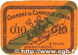 10 Centimes FRANCE régionalisme et divers ORAN 1920 JP.141.57 NEUF