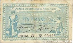 1 Franc FRANCE régionalisme et divers Philippeville 1922 JP.142.11 B
