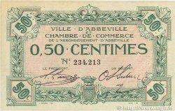 50 Centimes FRANCE régionalisme et divers ABBEVILLE 1920 JP.001.01 SUP+