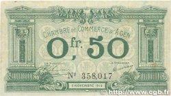 50 Centimes FRANCE régionalisme et divers Agen 1914 JP.002.01 TB