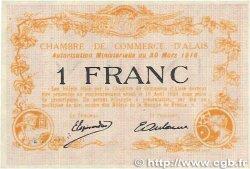 1 Franc FRANCE régionalisme et divers ALAIS (nom actuel :  ALÈS) 1916 JP.004.09 NEUF