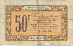 50 Centimes FRANCE régionalisme et divers ALENCON et FLERS 1915 JP.006.39 B+