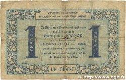 1 Franc FRANCE régionalisme et divers ALENCON et FLERS 1915 JP.006.48 B