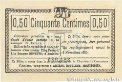 50 Centimes FRANCE régionalisme et divers AMIENS 1915 JP.007.14 pr.SPL