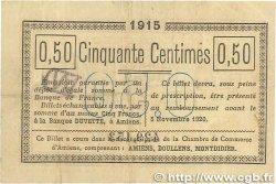 50 Centimes FRANCE régionalisme et divers Amiens 1915 JP.007.26 TB